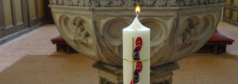 Altar Kerze Ostern Vilmnitz